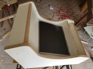 Testmontage des Displays