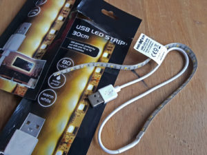 LED-Streifen mit USB-Anschluss