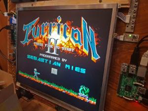 Test von Turrican II (DOS) auf dem Raspi
